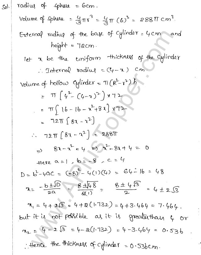 ML Aggarwal ICSE Solutions for Class 10 Maths Chapter 18 Mensuration Q1.74