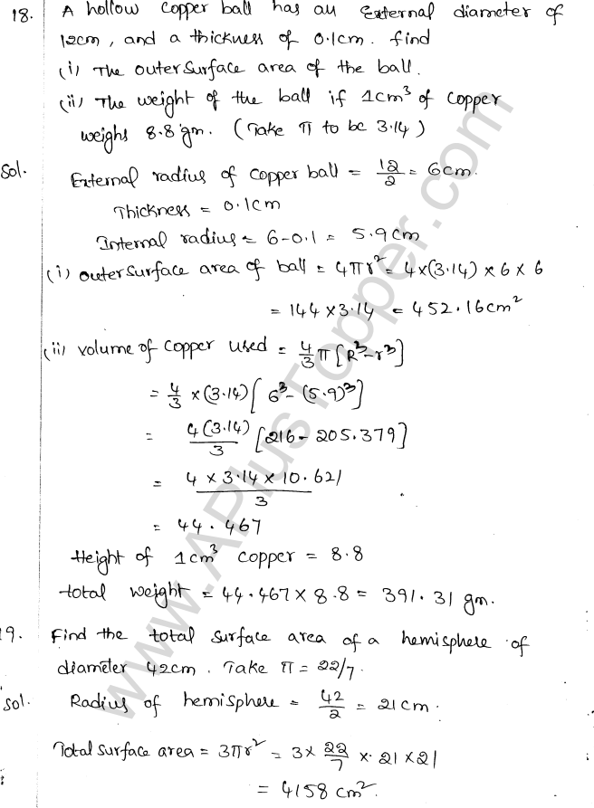 ML Aggarwal ICSE Solutions for Class 10 Maths Chapter 18 Mensuration Q1.75