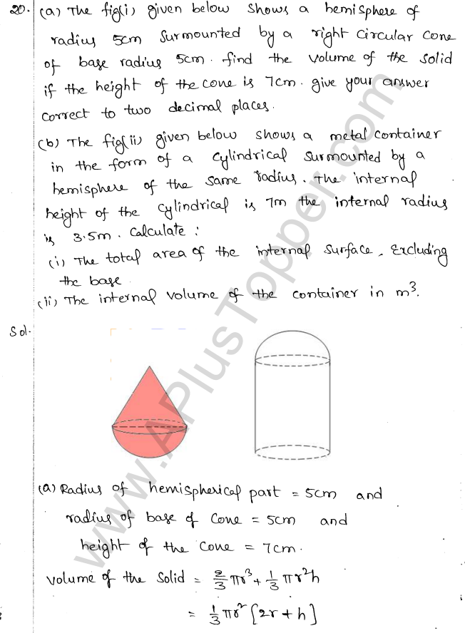 ML Aggarwal ICSE Solutions for Class 10 Maths Chapter 18 Mensuration Q1.77