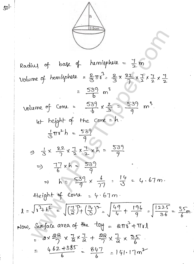 ML Aggarwal ICSE Solutions for Class 10 Maths Chapter 18 Mensuration Q1.79