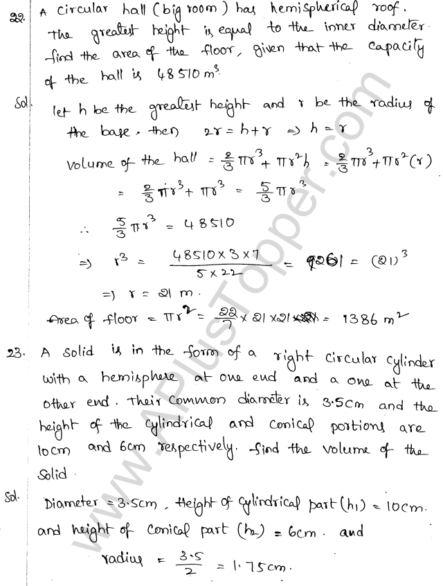 ML Aggarwal ICSE Solutions for Class 10 Maths Chapter 18 Mensuration Q1.80