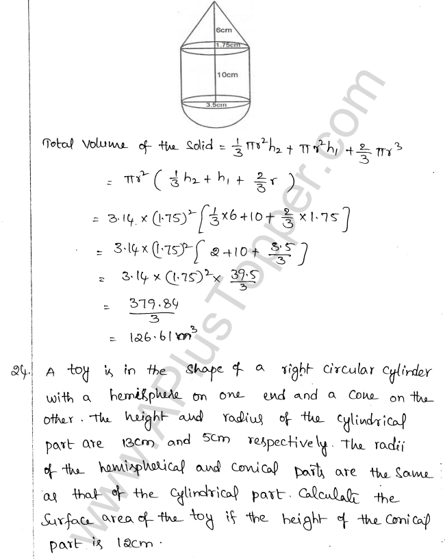 ML Aggarwal ICSE Solutions for Class 10 Maths Chapter 18 Mensuration Q1.81