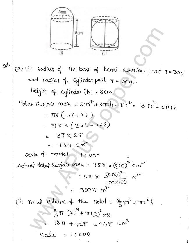 ML Aggarwal ICSE Solutions for Class 10 Maths Chapter 18 Mensuration Q1.83