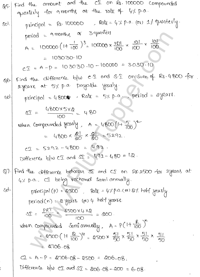 ML Aggarwal ICSE Solutions for Class 10 Maths Chapter 1 Compound Interest Q1.11