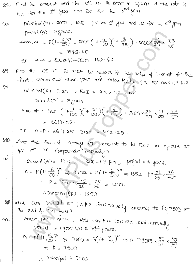 ML Aggarwal ICSE Solutions for Class 10 Maths Chapter 1 Compound Interest Q1.12