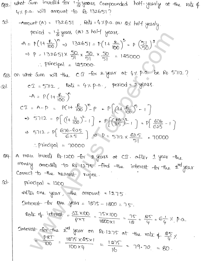 ML Aggarwal ICSE Solutions for Class 10 Maths Chapter 1 Compound Interest Q1.13