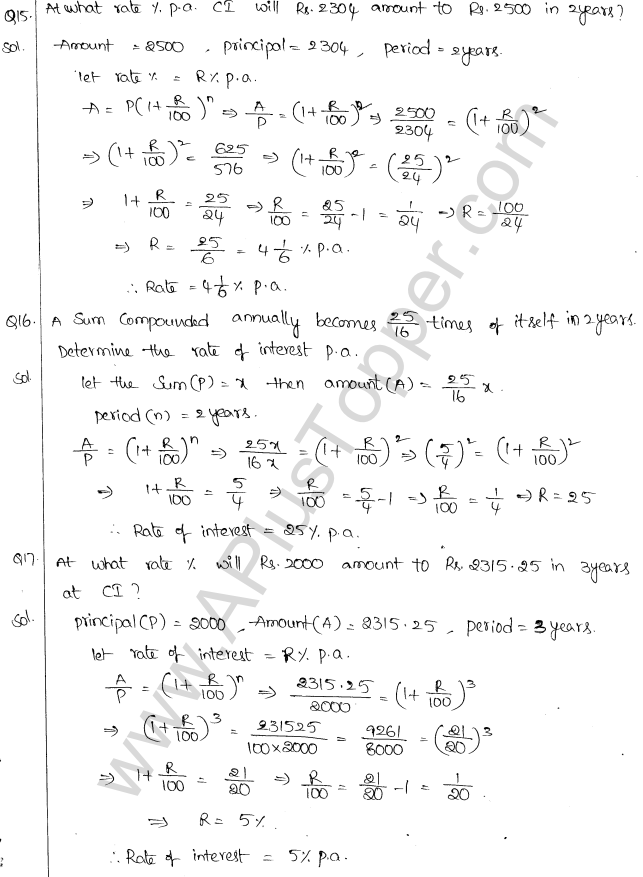 ML Aggarwal ICSE Solutions for Class 10 Maths Chapter 1 Compound Interest Q1.14