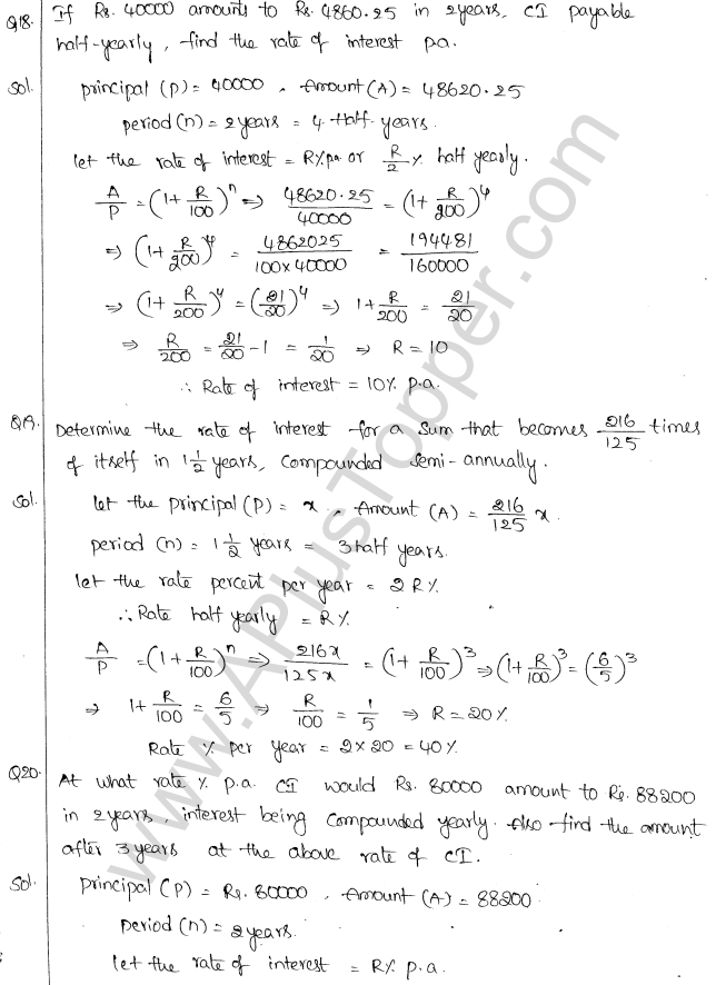 ML Aggarwal ICSE Solutions for Class 10 Maths Chapter 1 Compound Interest Q1.15