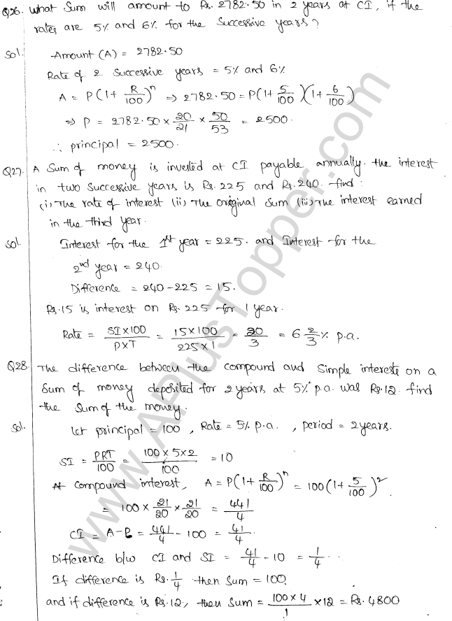 ML Aggarwal ICSE Solutions for Class 10 Maths Chapter 1 Compound Interest Q1.18