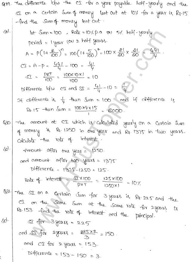 ML Aggarwal ICSE Solutions for Class 10 Maths Chapter 1 Compound Interest Q1.19