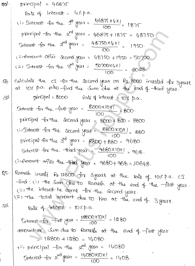 ML Aggarwal ICSE Solutions for Class 10 Maths Chapter 1 Compound Interest Q1.2