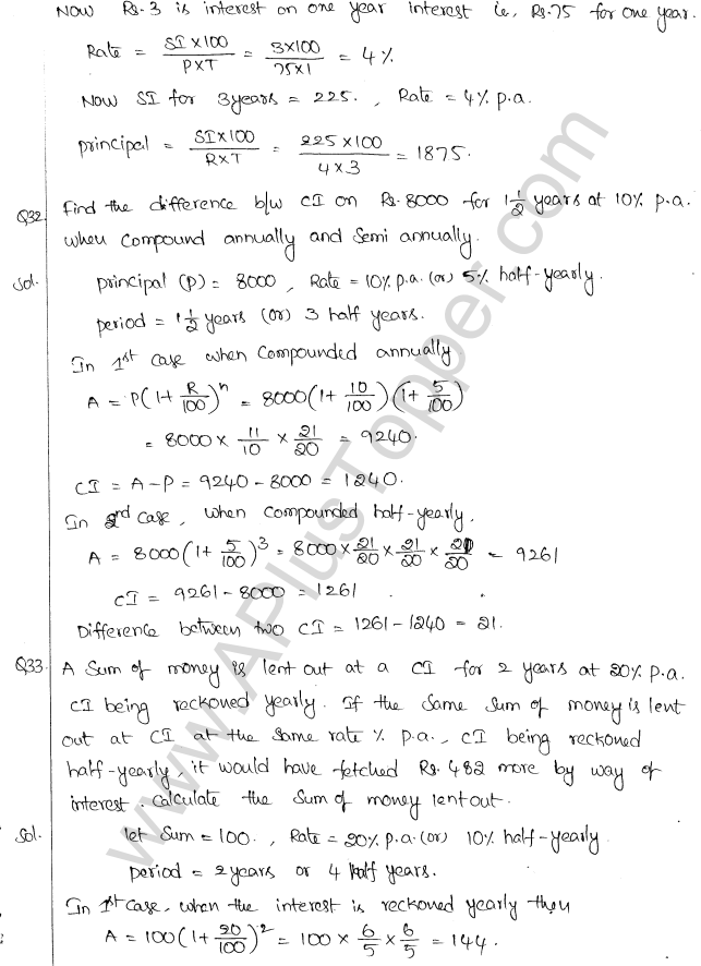 ML Aggarwal ICSE Solutions for Class 10 Maths Chapter 1 Compound Interest Q1.20
