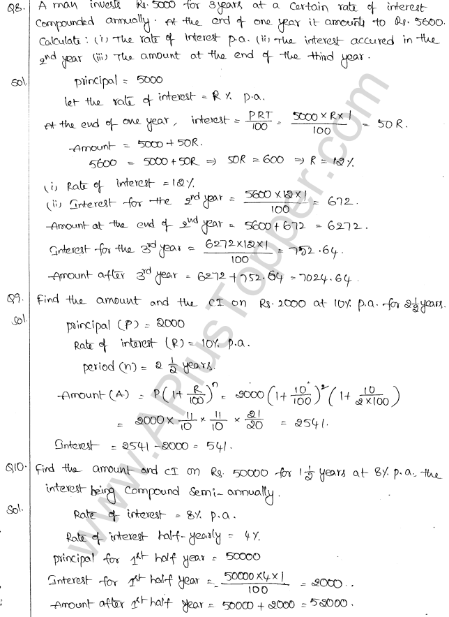 ML Aggarwal ICSE Solutions for Class 10 Maths Chapter 1 Compound Interest Q1.4