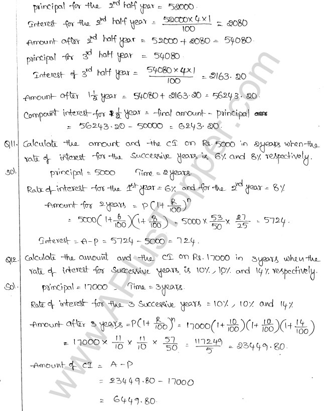 ML Aggarwal ICSE Solutions for Class 10 Maths Chapter 1 Compound Interest Q1.5