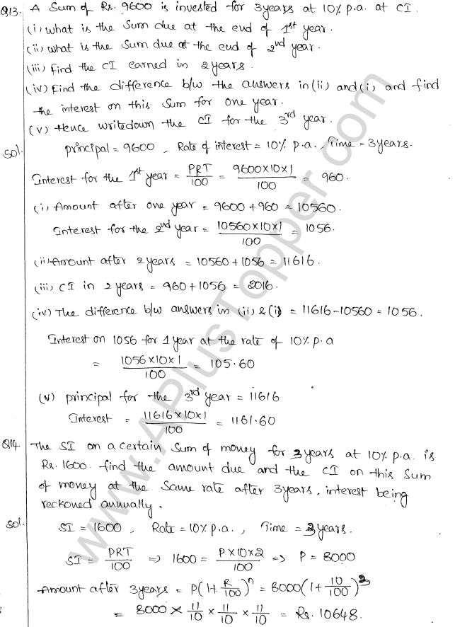 ML Aggarwal ICSE Solutions for Class 10 Maths Chapter 1 Compound Interest Q1.6