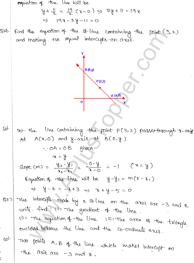 ML Aggarwal ICSE Solutions for Class 10 Maths Chapter 12 Equation of a Straight Line Q1.10