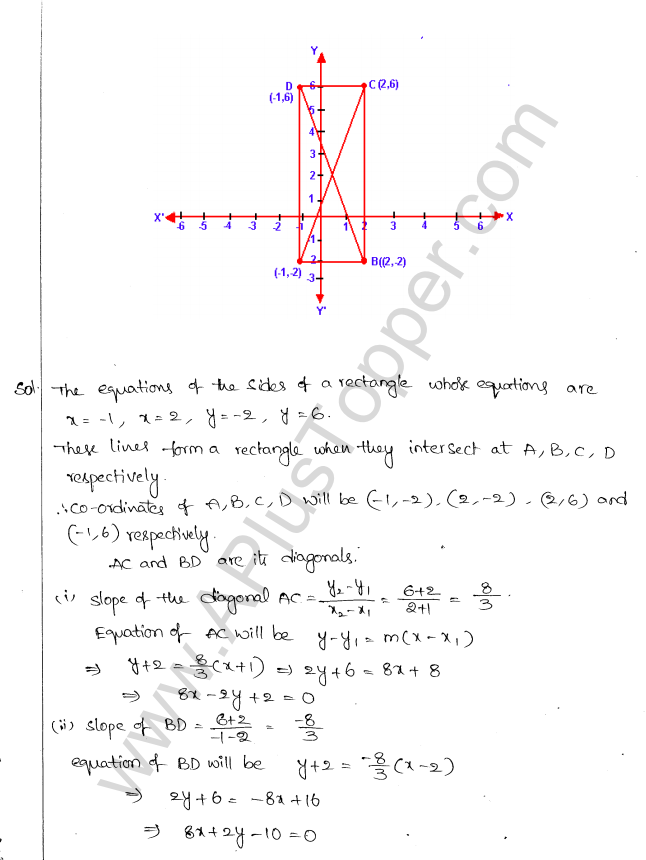 ML Aggarwal ICSE Solutions for Class 10 Maths Chapter 12 Equation of a Straight Line Q1.13