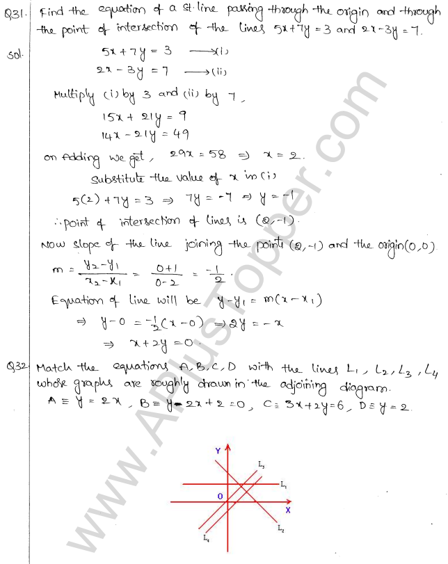 ML Aggarwal ICSE Solutions for Class 10 Maths Chapter 12 Equation of a Straight Line Q1.14