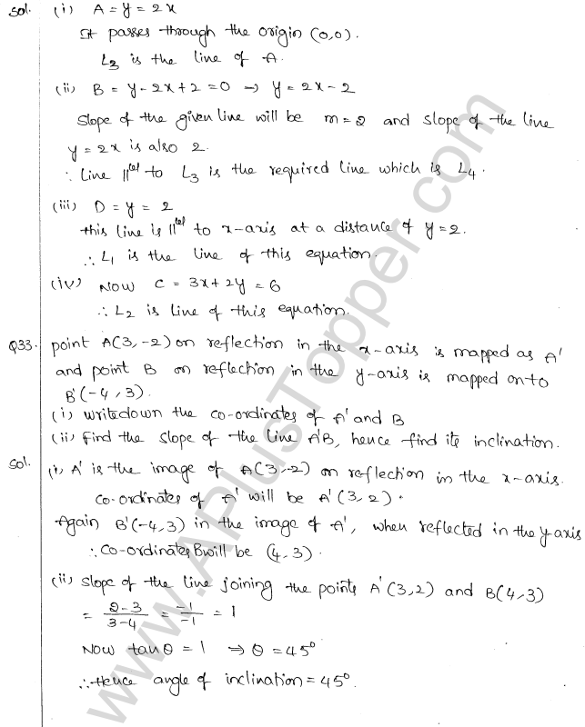 ML Aggarwal ICSE Solutions for Class 10 Maths Chapter 12 Equation of a Straight Line Q1.15