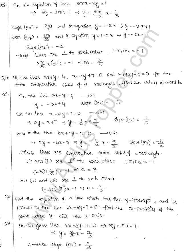 ML Aggarwal ICSE Solutions for Class 10 Maths Chapter 12 Equation of a Straight Line Q1.19