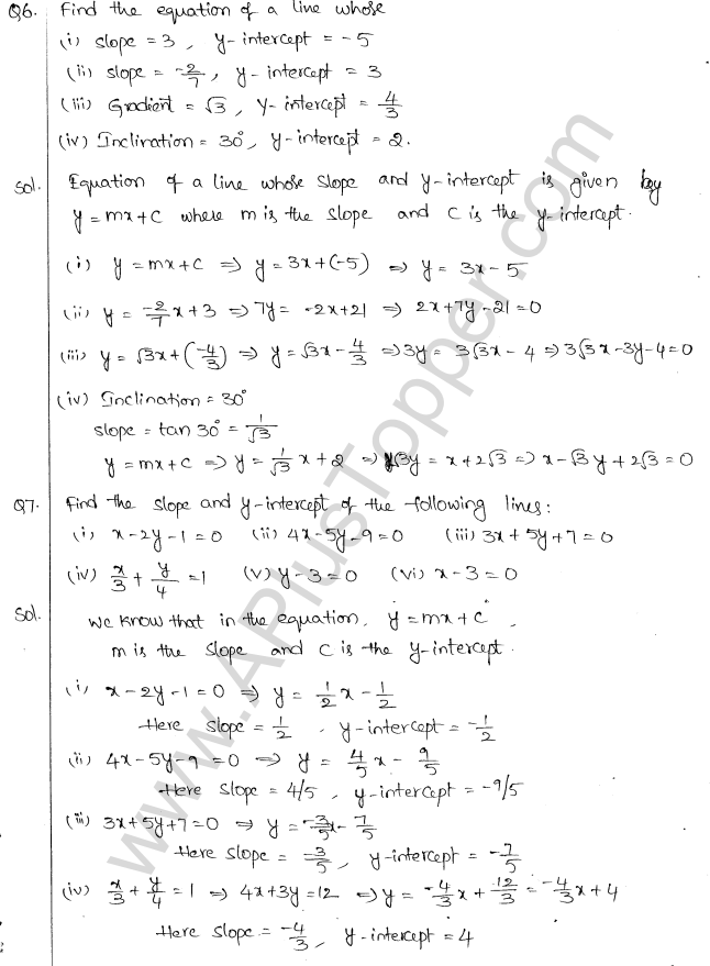 ML Aggarwal ICSE Solutions for Class 10 Maths Chapter 12 Equation of a Straight Line Q1.2
