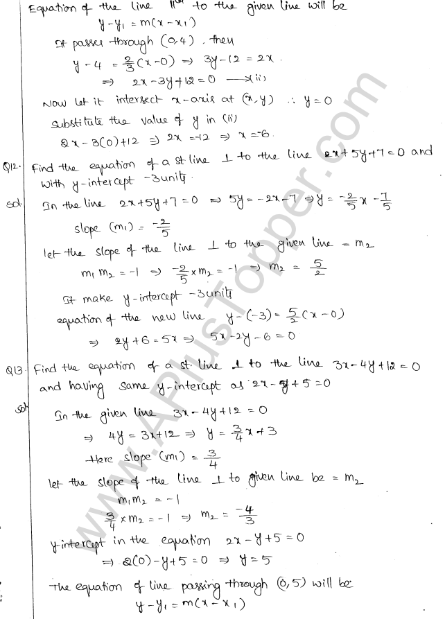 ML Aggarwal ICSE Solutions for Class 10 Maths Chapter 12 Equation of a Straight Line Q1.20