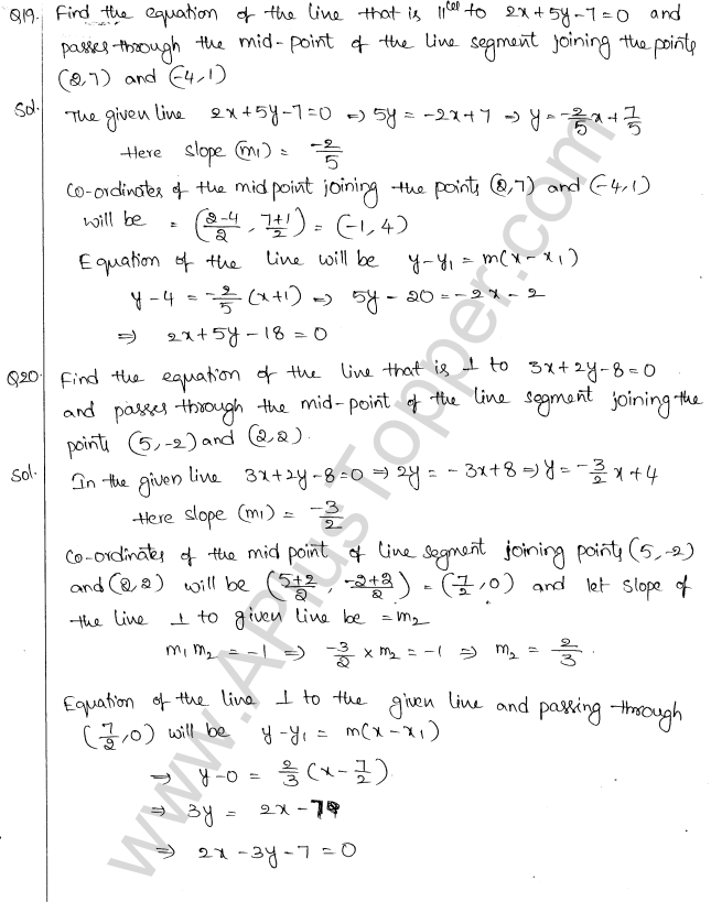 ML Aggarwal ICSE Solutions for Class 10 Maths Chapter 12 Equation of a Straight Line Q1.23