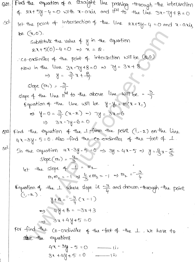 ML Aggarwal ICSE Solutions for Class 10 Maths Chapter 12 Equation of a Straight Line Q1.24