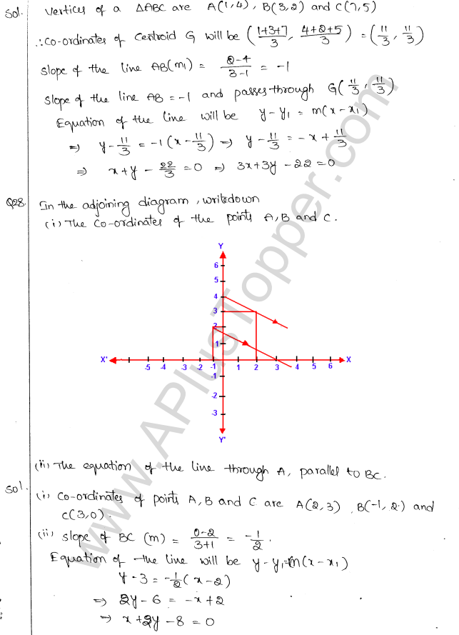 ML Aggarwal ICSE Solutions for Class 10 Maths Chapter 12 Equation of a Straight Line Q1.27