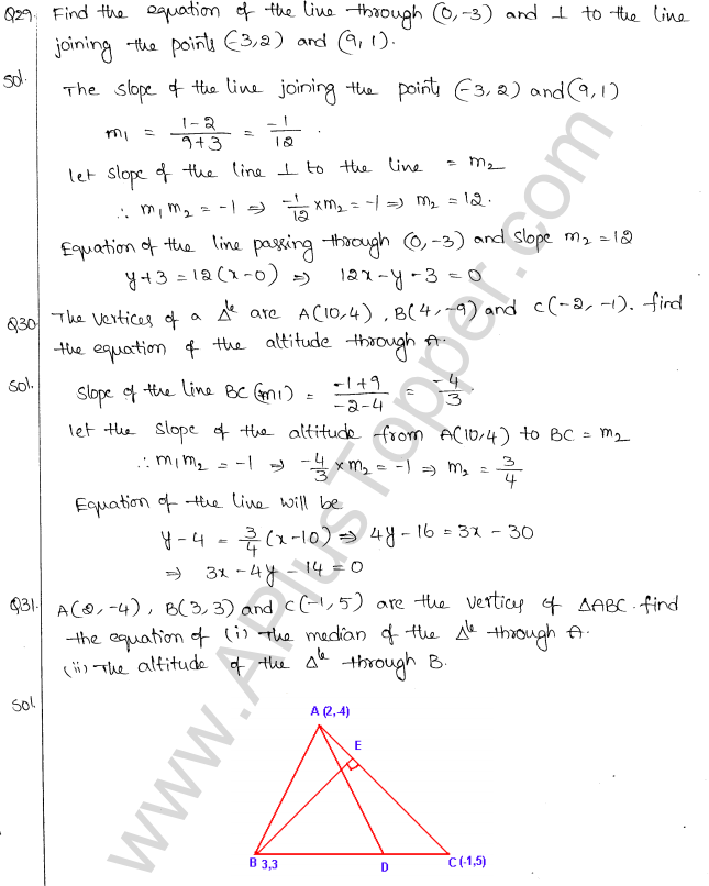 ML Aggarwal ICSE Solutions for Class 10 Maths Chapter 12 Equation of a Straight Line Q1.28