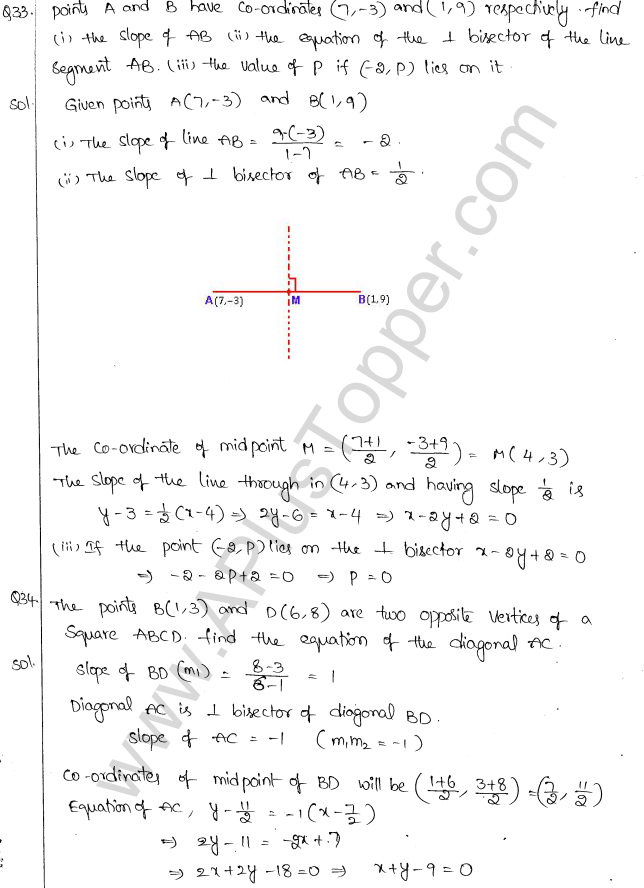 ML Aggarwal ICSE Solutions for Class 10 Maths Chapter 12 Equation of a Straight Line Q1.30