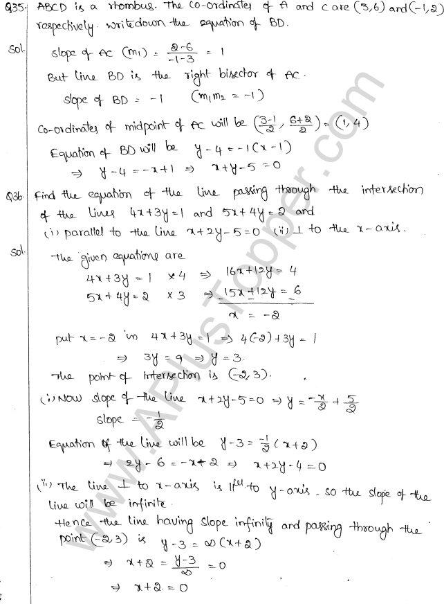 ML Aggarwal ICSE Solutions for Class 10 Maths Chapter 12 Equation of a Straight Line Q1.31
