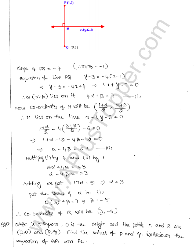 ML Aggarwal ICSE Solutions for Class 10 Maths Chapter 12 Equation of a Straight Line Q1.34