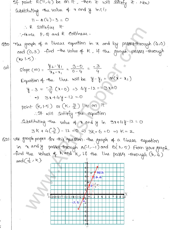 ML Aggarwal ICSE Solutions for Class 10 Maths Chapter 12 Equation of a Straight Line Q1.7