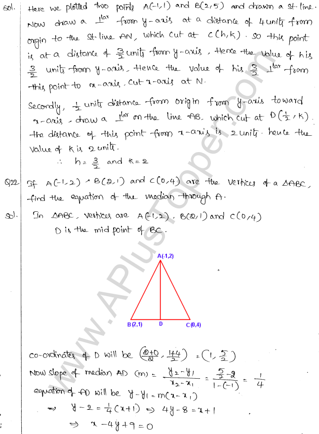ML Aggarwal ICSE Solutions for Class 10 Maths Chapter 12 Equation of a Straight Line Q1.8