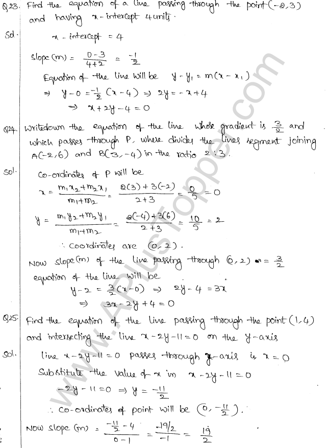 ML Aggarwal ICSE Solutions for Class 10 Maths Chapter 12 Equation of a Straight Line Q1.9