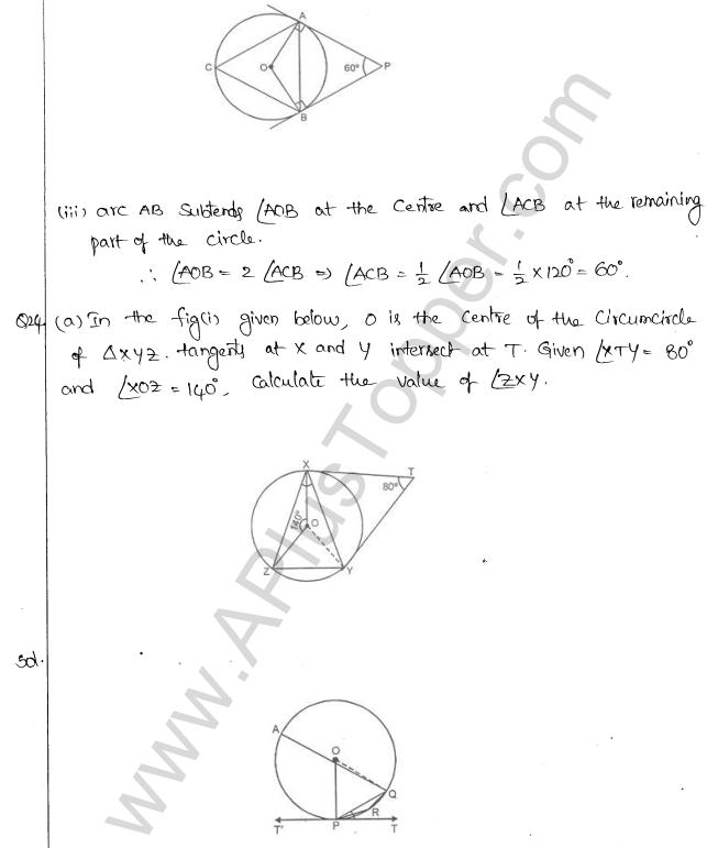 ML Aggarwal ICSE Solutions for Class 10 Maths Chapter 16 Circles Q1.100