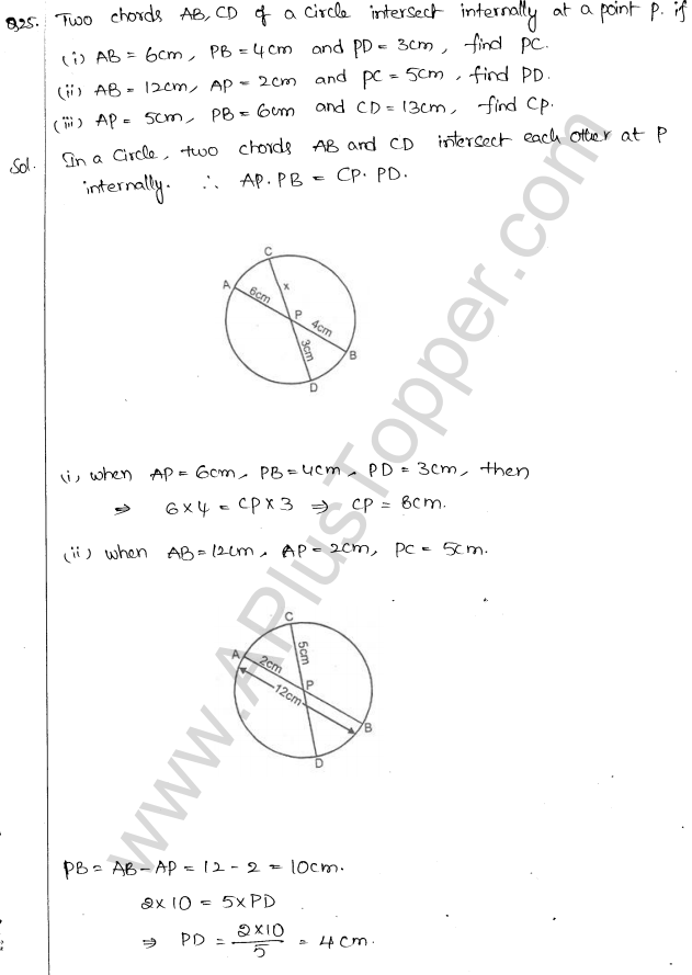 ML Aggarwal ICSE Solutions for Class 10 Maths Chapter 16 Circles Q1.102