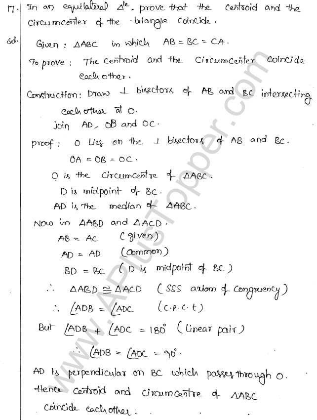 ML Aggarwal ICSE Solutions for Class 10 Maths Chapter 16 Circles Q1.16