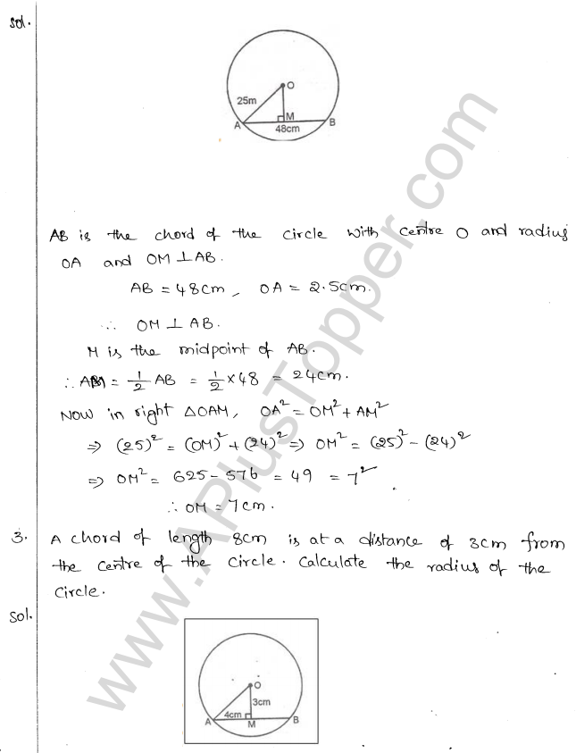 ML Aggarwal ICSE Solutions for Class 10 Maths Chapter 16 Circles Q1.2