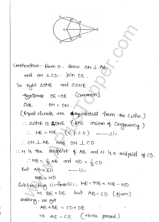 ML Aggarwal ICSE Solutions for Class 10 Maths Chapter 16 Circles Q1.22