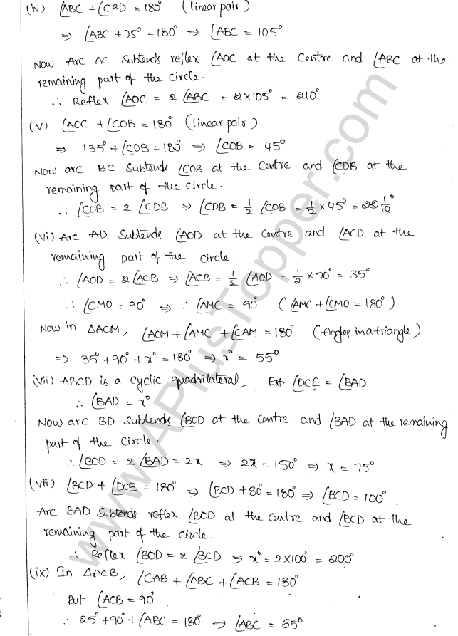 ML Aggarwal ICSE Solutions for Class 10 Maths Chapter 16 Circles Q1.25