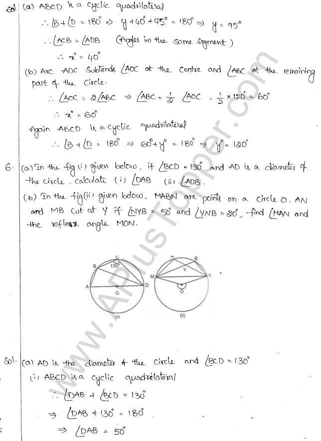 ML Aggarwal ICSE Solutions for Class 10 Maths Chapter 16 Circles Q1.29