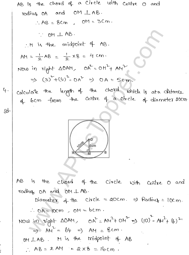 ML Aggarwal ICSE Solutions for Class 10 Maths Chapter 16 Circles Q1.3