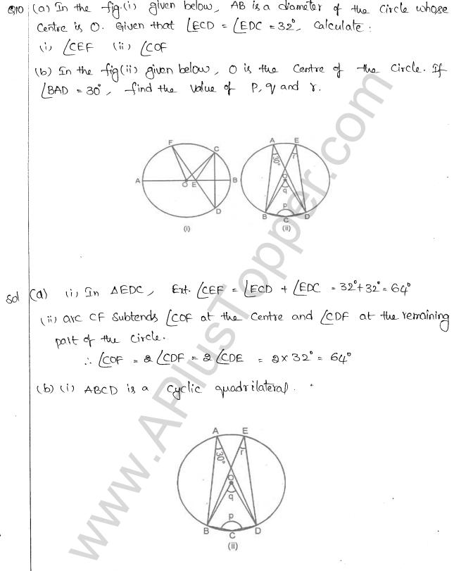 ML Aggarwal ICSE Solutions for Class 10 Maths Chapter 16 Circles Q1.34
