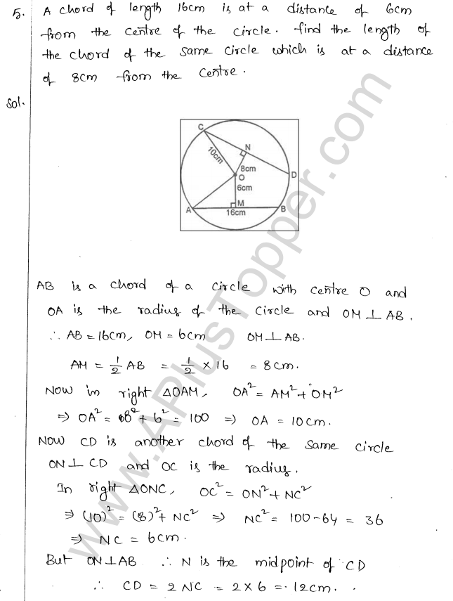 ML Aggarwal ICSE Solutions for Class 10 Maths Chapter 16 Circles Q1.4