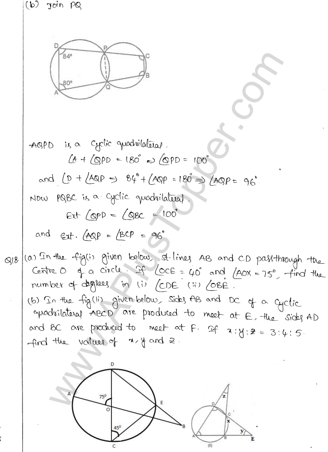 ML Aggarwal ICSE Solutions for Class 10 Maths Chapter 16 Circles Q1.44