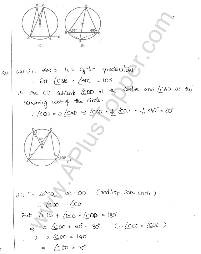 ML Aggarwal ICSE Solutions for Class 10 Maths Chapter 16 Circles Q1.49