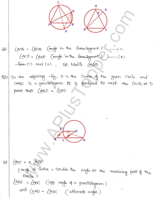 ML Aggarwal ICSE Solutions for Class 10 Maths Chapter 16 Circles Q1.63