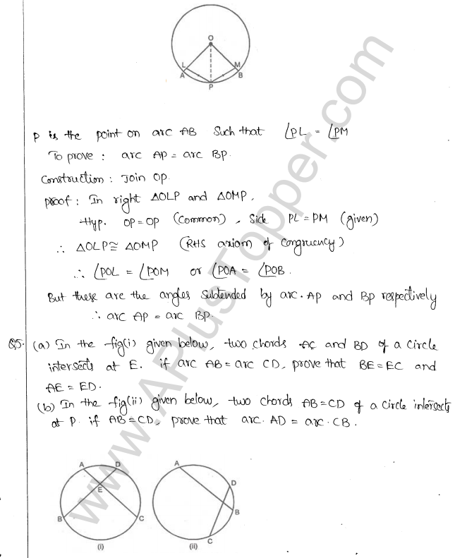 ML Aggarwal ICSE Solutions for Class 10 Maths Chapter 16 Circles Q1.69